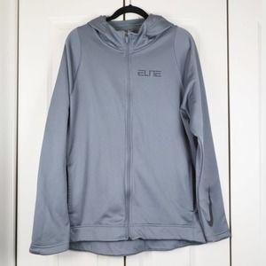NIKE ELITE Zip Up Hoodie Grey Men's Size XL